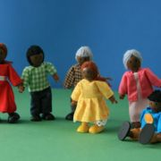 Puppenfamilie, dunkle Hautfarbe