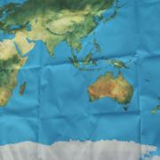Begehbare große Weltkarte